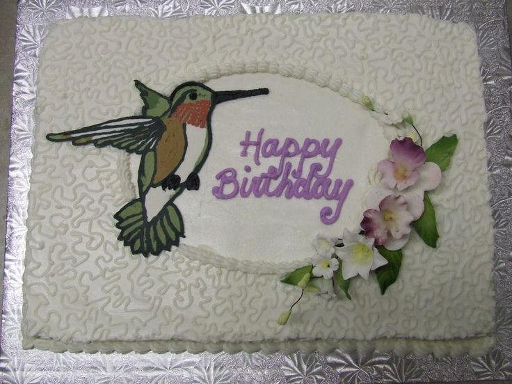 Hummingbird I Did This Cake For A Birthday But Think It