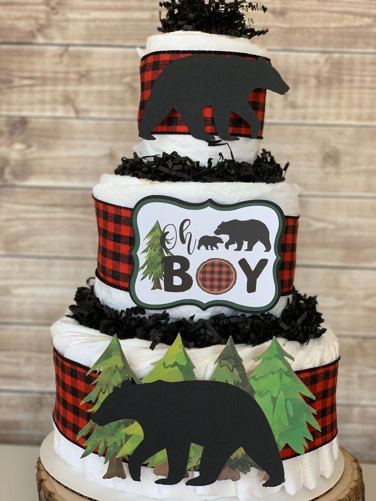 Oh Boy Lumberjack Diaper Cake Kit-Virtual Baby Shower ...
