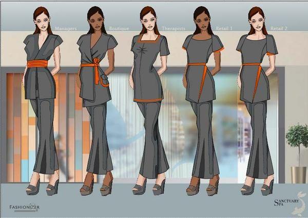 117 mejores im genes sobre uniforme en pinterest la for Spa uniform bangkok