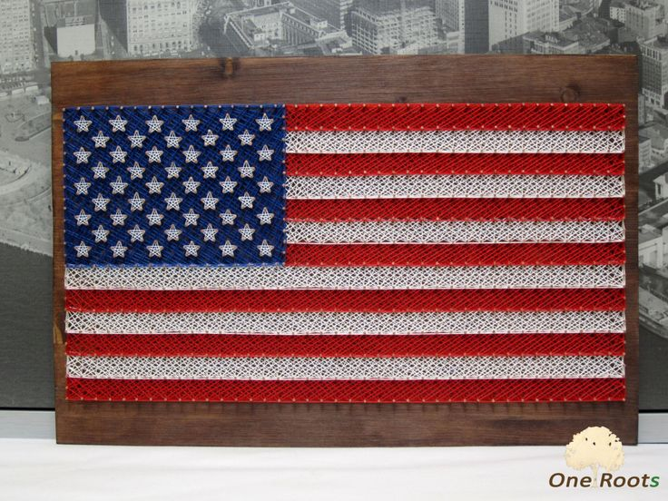 String Art American Flag USA Wall Art by OneRoots on Etsy https://www.etsy.com/listing/223600555/string-art-american-flag-usa-wall-art