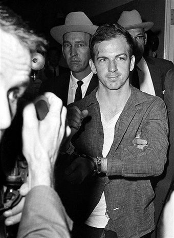 November 22 or 23, 1963 - Lee Harvey Oswald after his arrest by the Dallas police.