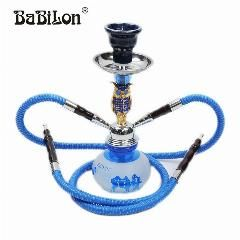 [ 26% OFF ] Babilon Premium Alloy Complete Set Red/blue/black The Owl Small Shisha Hookah Glass Smoking Pipe Narguile Bottle Two Hose