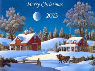 Christmas Wallpapers Free Download: Merry Christmas Snow Fall Destop Wallpaper