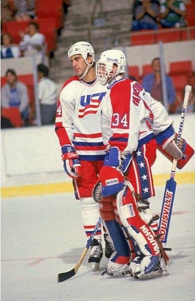 John Vanbiesbrouck and Chris Chelios - 1987 Canada Cup