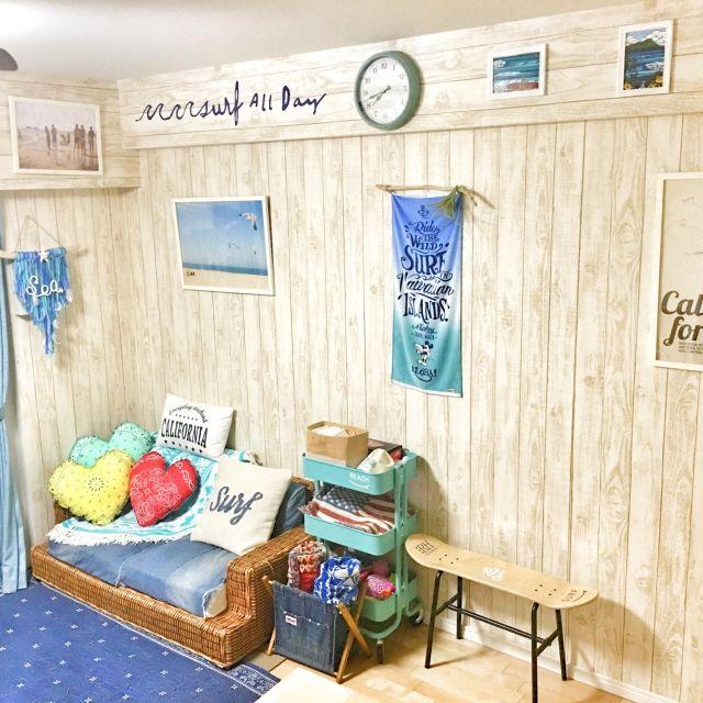 manaminnie86さんの、部屋全体,サンゲツ,壁紙屋本舗,板壁風壁紙,のお部屋写真
