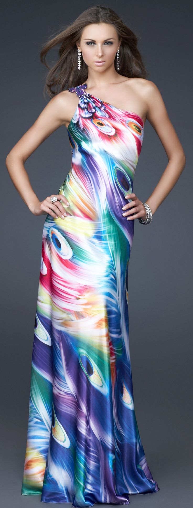 La Femme 16417 prom dress *Rainbow Spectrum, so colorful*