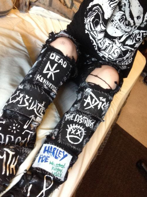 casey mae woods crust punk pants on tumblr