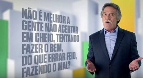 José de Abreu defendendo o PT