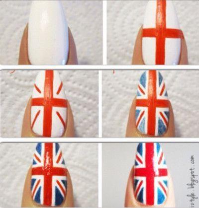 Engelse vlag nagels top