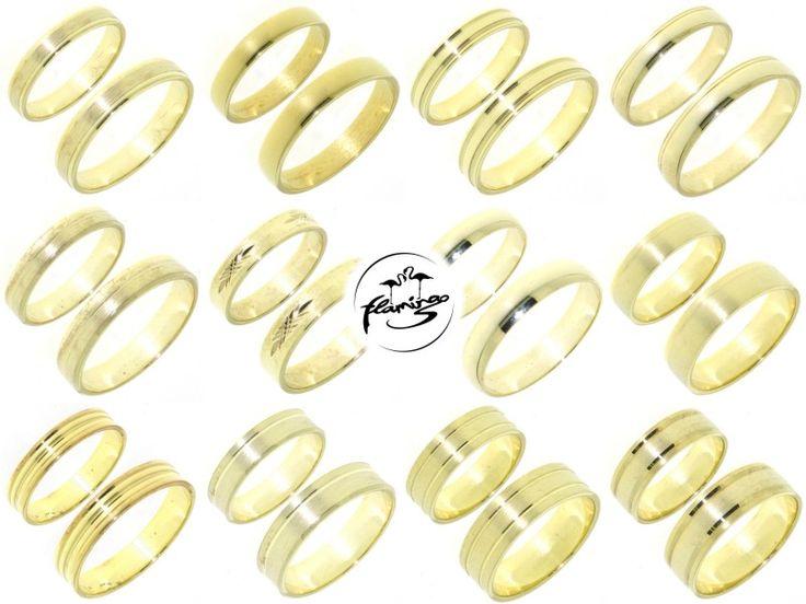 TROUWRINGENSPECIAL 3: Flamingo Basic. Eenvoudige gouden trouwringen voor een eerlijke prijs.  http://www.cdjuwelier.net/flamingobasic