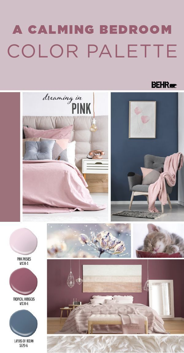 Dreaming In Pink Color Palette Colorfully Behr Calming Bedroom Colors Bedroom Colors Calming Bedroom