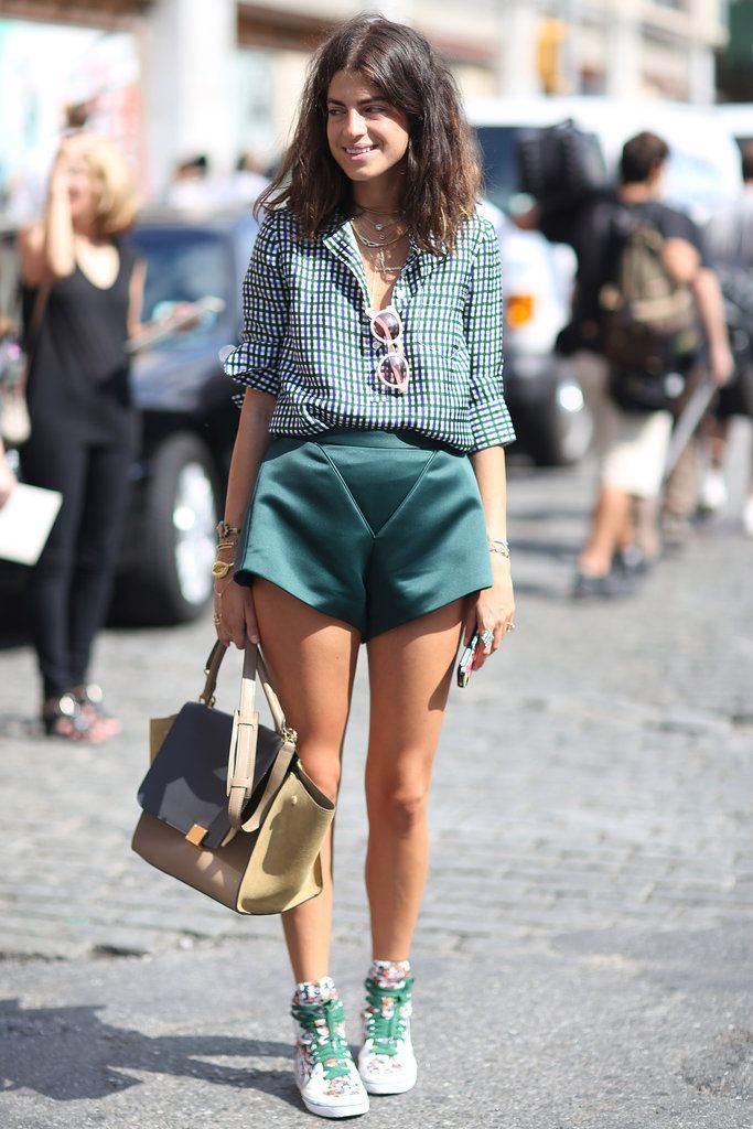 Rock a button down with anything- under a blazer, with a pair of shorts, under a dress, etc...just like our favorite blogger The Man Repeller did!