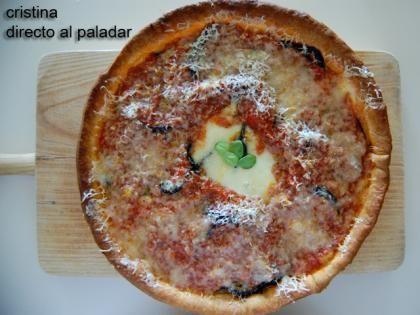 Tarta de berenjena y mozzarella. Receta