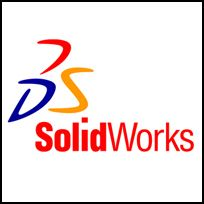 SolidWorks 3D design software used with our ModusCAM application for the path planning of 6-axis robotics.