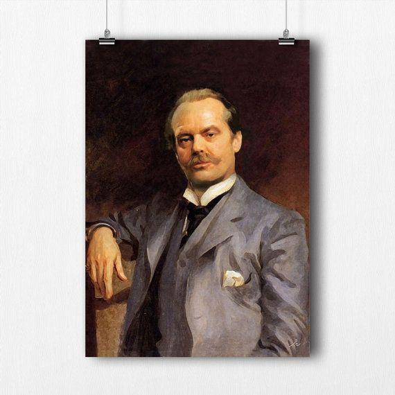 Affiche - Poster - Jack Nicholson photoshop - A3 - tableau original à offrir