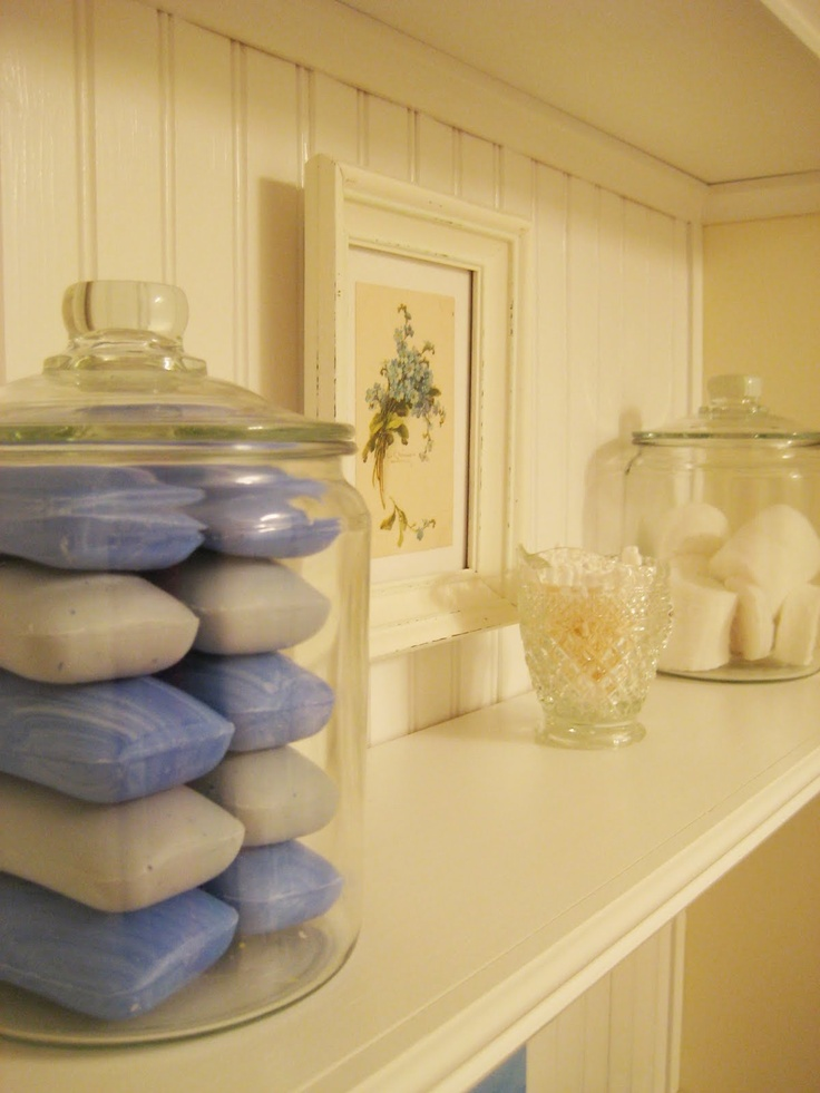 Great idea for soaps #bathroom
