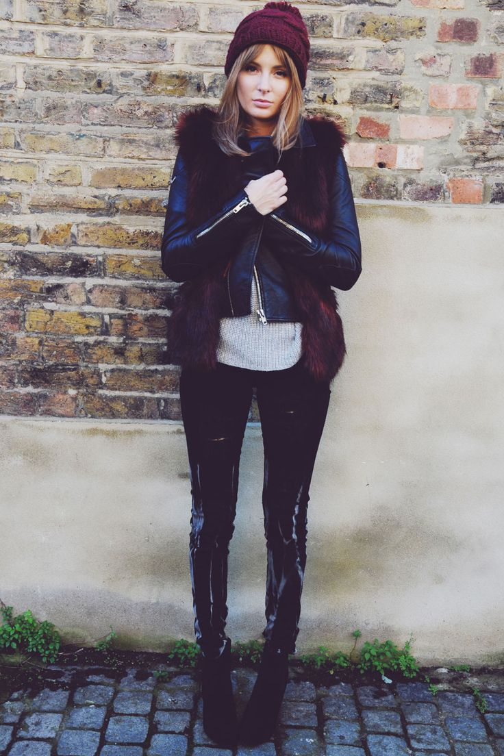 Millie Mackintosh Goes For A Faux Fur Super Trash Gilet, 2014
