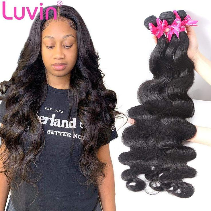 Luvin Brazilian Hair Weave 3 4 Bundles Body Wave Virgin Hair Weave …