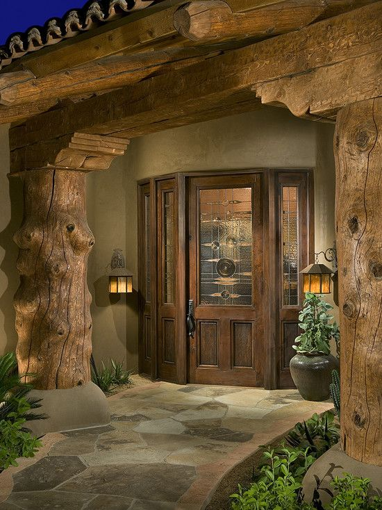Great entranceway: Log Homes, Ideas, Bess Jones, Dream, Front Doors, Jones Interiors, Traditional Exterior, House