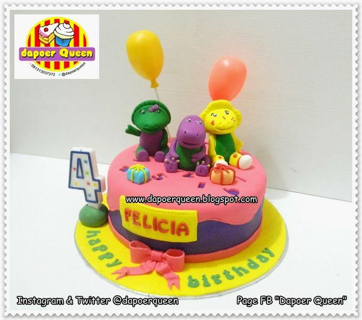 Dapoer Queen: Barney 'n friends cake for Felicia's bday