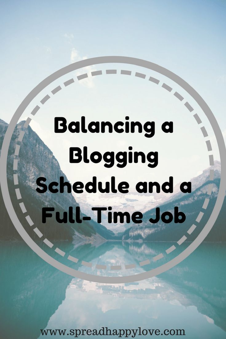 Balancing a Blogging Schedule and a Full-Time Job | Building a Following With a Limited Schedule Emma Conrad - Spread More Happiness Blog I have found a weekly blog work schedule that has grown my Pinterest monthly views to over 150K in less than two months and dramatically increased my blogs page views! I spend less than ten hours a week working on my blog, but it's still growing every day!