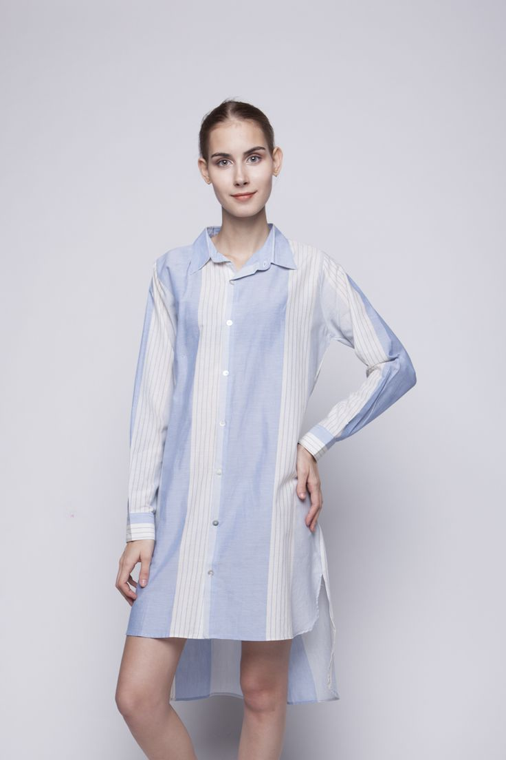 Flo Shirt Dress Blue   Rp 221.250