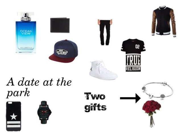 """""""A date at the park"""" by emmapkerr5 on Polyvore featuring True Religion, A Gold E, NIKE, Traser, Neiman Marcus, Givenchy, Vans, Karl Lagerfeld, Pandora and men's fashion"""