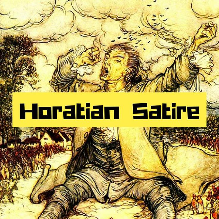 Horatian satire by Gulliver's travel