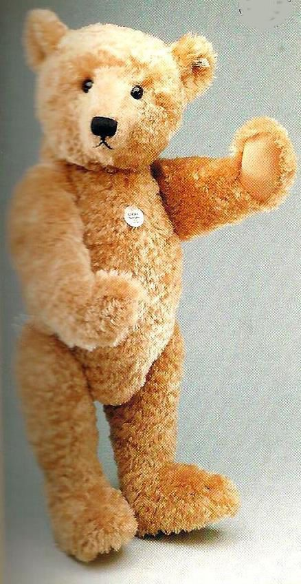 "STEIFF ""TEDDY BEAR 1909 REPLICA"" EAN 406058 BLOND MOHAIR 25.5"" BEAR REPLICA #Steiff #AllOccasion"