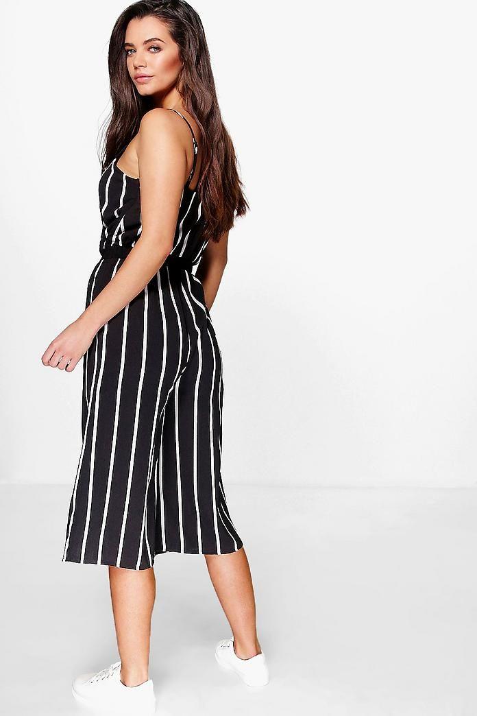 94a7db73b Mono largo estilo falda pantalón a rayas anchas bella en 2019   Ropa ...