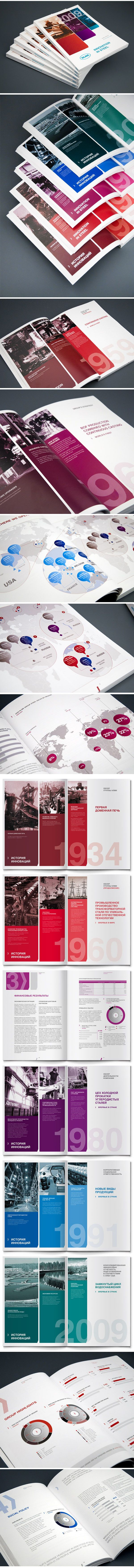 annual report NLMK on the Behance Network