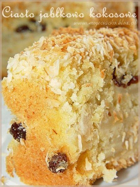 Pyszne ciasto jabłkowo kokosowe