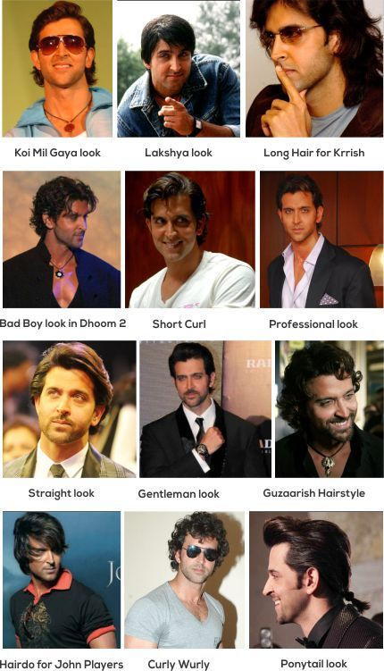 DIFFERENT HAIRSTYLES OF HRITHIK ROSHAN | A star in Bollywood. His style statement and his passion for his work is always appreciated. He had some of the cool hairstyles. Checkout how he looks in various hair styles.