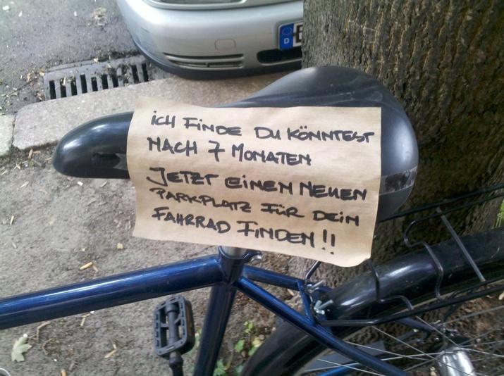 Fahrrad Message