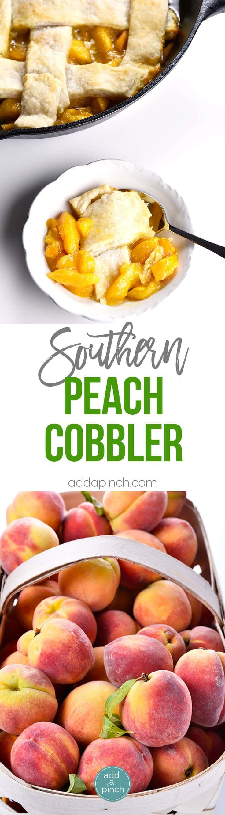 Old Fashioned Southern Peach Cobbler Recipe - Peach Cobbler Recipe – My Grandmother's peach cobbler recipe is a traditional Southern peach cobbler! This heirloom recipe makes the best peach cobbler that has always been a staple in my family for generations. // addapinch.com