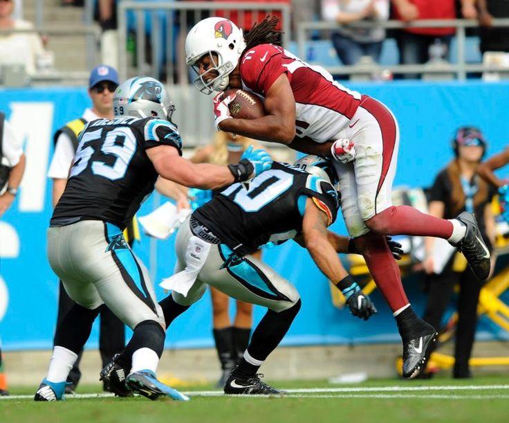 Cardinals Panthers Football Larry Fitzgerald, Kurt Coleman