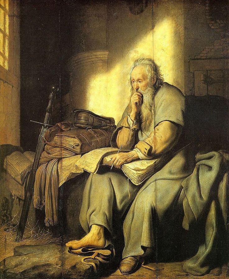 #Rembrandt | 1627 | De Apostel Paulus in de Gevangenis | Staatsgalerie Stuttgart, Stuttgart