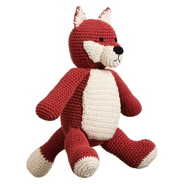 Handmade crochet large soft toy - Felix Fox Flamboyance is usually not Felix fox's style, preferring to remain inconspicuous in choose subtlety and cunning o... $58