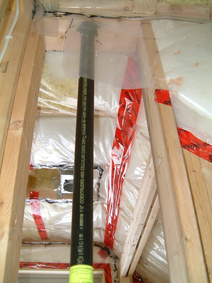 Plumbing and spray foam insulation by Dave Jarvis.