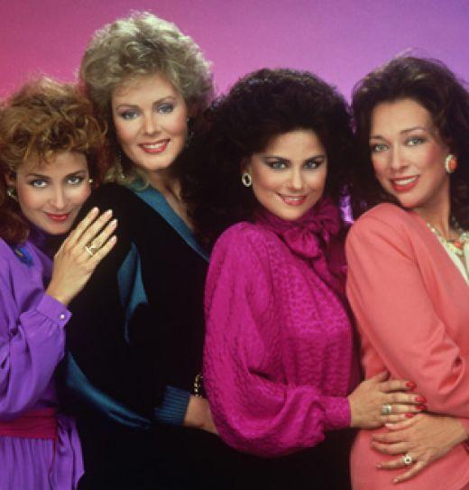 2012 -- 1980's pallet and Flower Shoulder, tiers return -- Popular 1980s TV show, 'Designing Women' displays 80s color trends