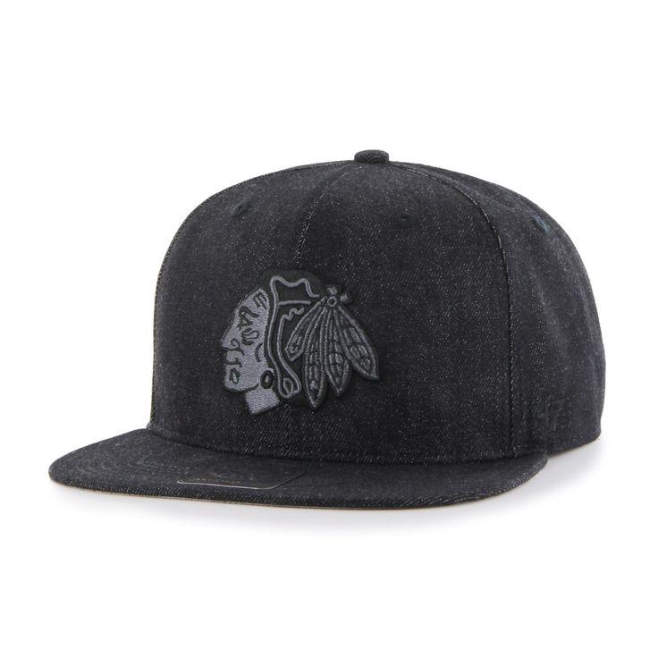 AmazonSmile : NHL Chicago Blackhawks Nero Captain Adjustable Hat, Black,  One Size : Sports