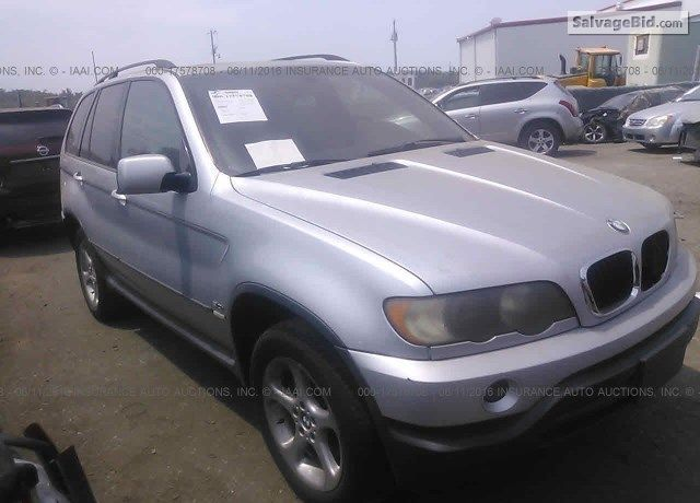 Salvage Silver #BMW X5 For Sale at Brandywine, MD. Join Live #Auction.