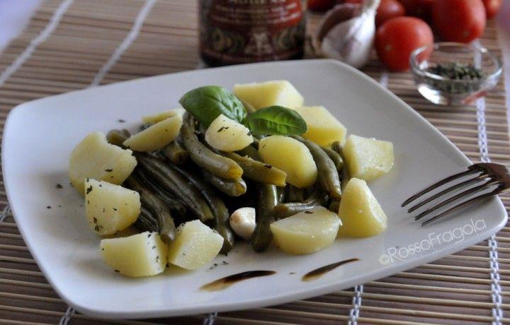 Insalata di fagiolini e patate con aceto balsamico