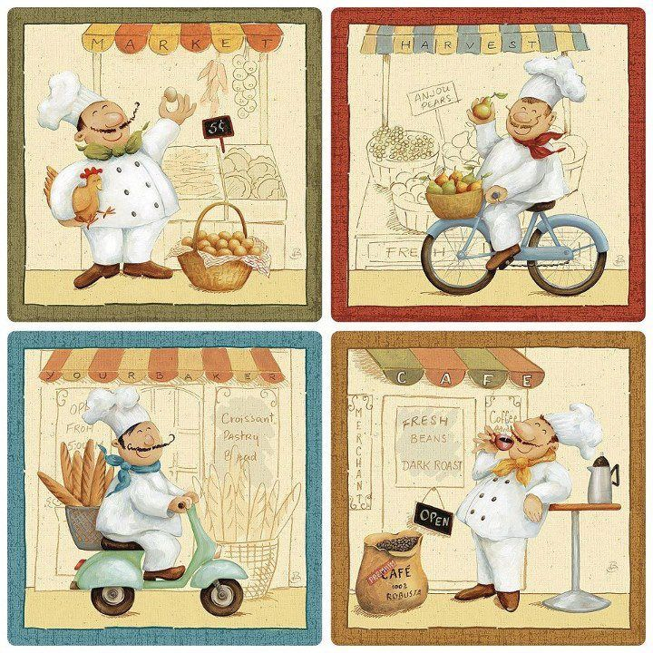 Decoupage Images for Kitchen