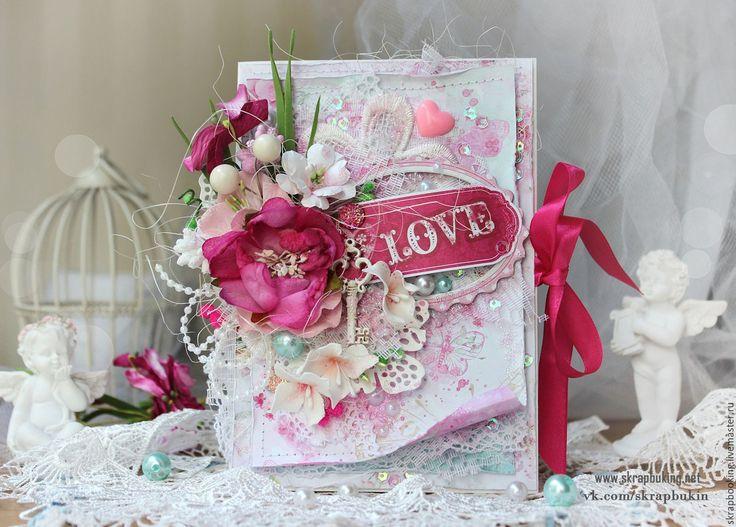 Купить Открытка для влюбленных - розовый, для влюбленных, подарок девушке, подарок парню, на День Святого Валентина