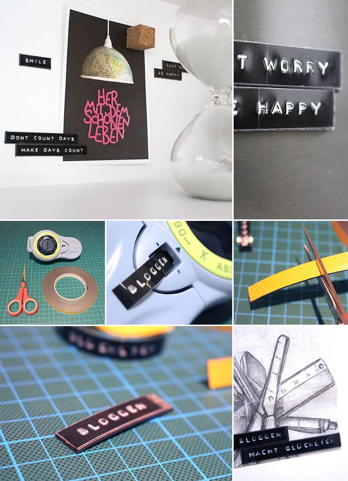 DIY, Gingered Things, Magnets, Labels, decoration, Magnete, Kühlschrank, Deko,
