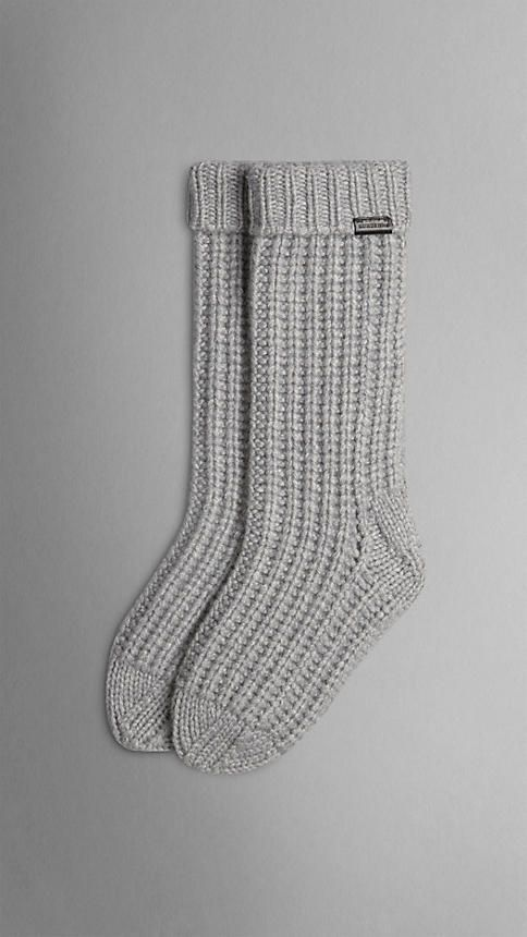 Knitted Cashmere Socks | Burberry