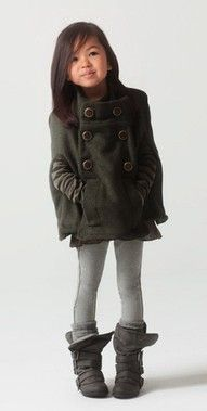 kids fashion, girls fashion, coat, boots, fashion except with a jacket dress type thing to her knee(: :)