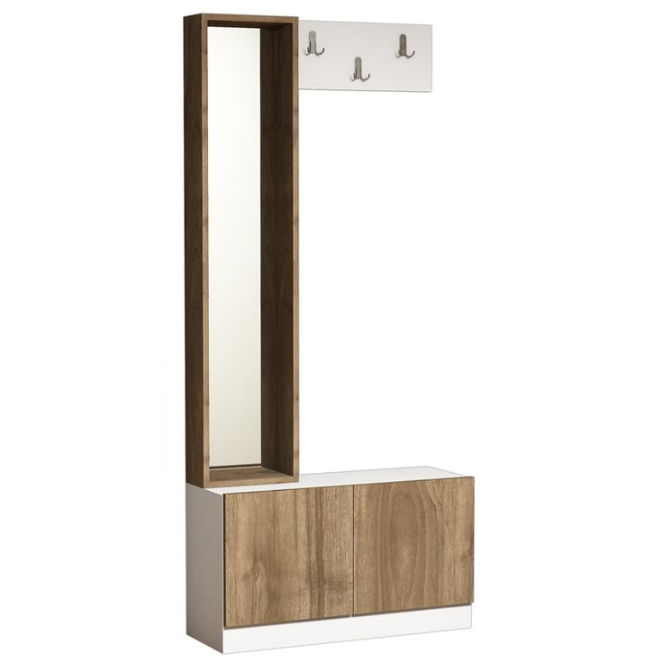 Port Manto Bruno Coat walnut-white 30x80x180