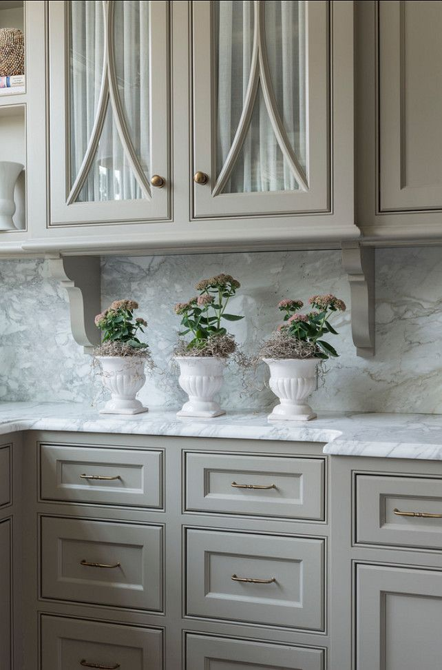 """Kitchen Cabinet paint color. Great Kitchen Cabinet Design. #Kitchen #Cabinet #Design Paint Color: """"Fieldstone 1558 by Benjamin Moore""""."""